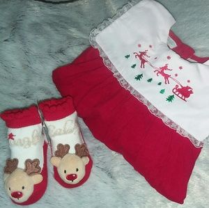 CARRIAGE BOUTIQUE BABY GIRLS HOLIDAY DRESS SZ 9M